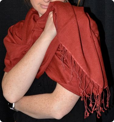 VIS #200 - 70% pashmina/30% silk medium-size shawl