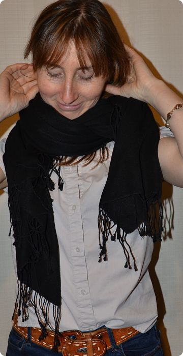 full-size 70 percent pashmina, 30 percent silk, black shawl